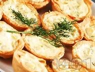 Рецепта Зеленчукови тарталетки с тиквичка